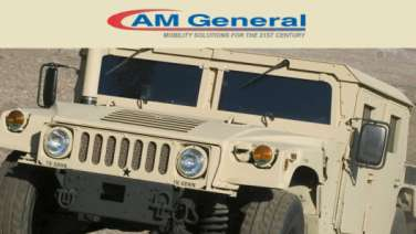 This is a photo of a military HUMVEE model manufactured by AM General in Mishawaka