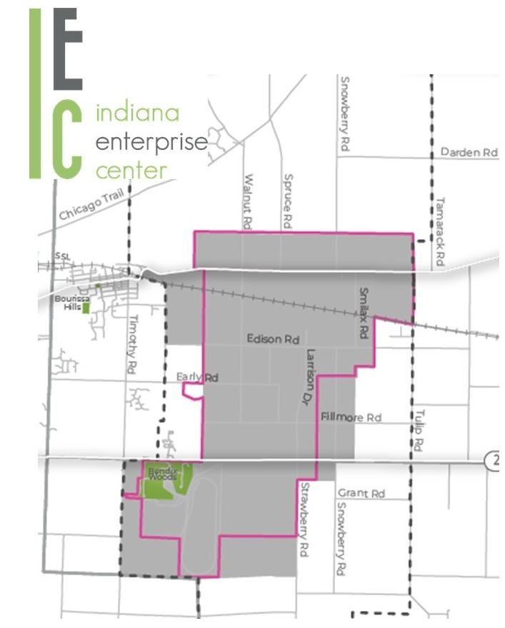Indiana Enterprise Center Boundary Map